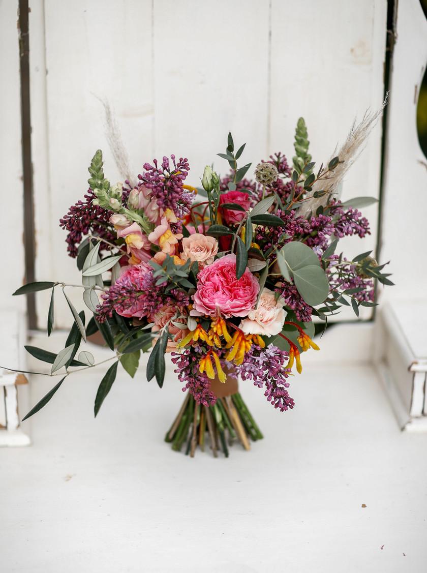 Country boho wedding bouquet