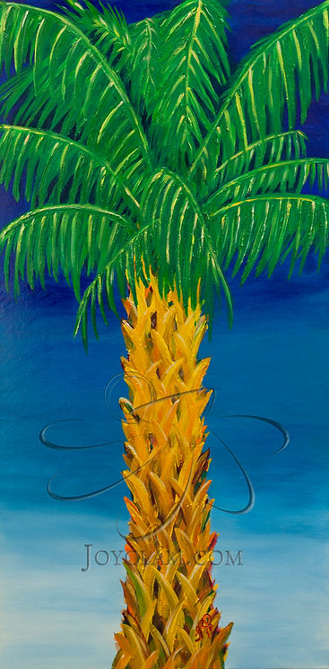 palm tree acrylic painting canvas tohopekaliga joyclam art