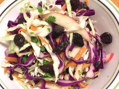 Double Duty: Cabbage Slaw and Sauerkraut