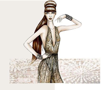 Glamour Fashion Sketches