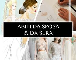 disegno abiti da sposa
