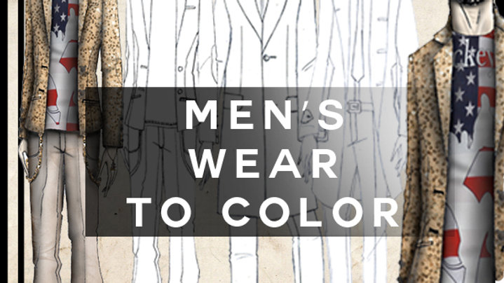 men's wear to color