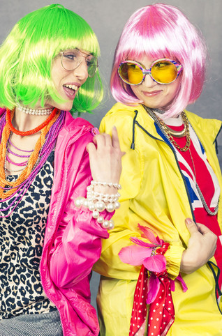 neon fashion friends