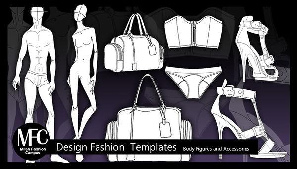 Plantillas Diseño e Ilustración Moda para Descargar e Imprimi