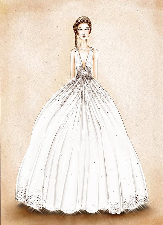 figurini abito da sposa