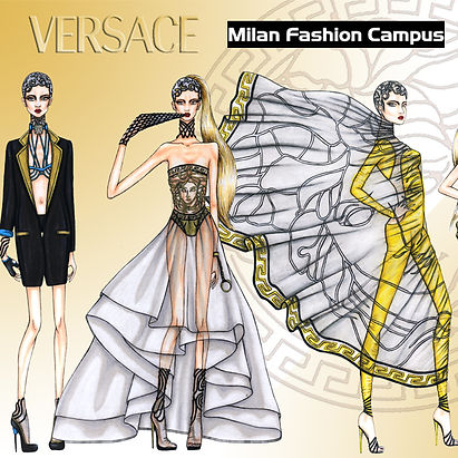 Versace Fashion Drawings Sketches