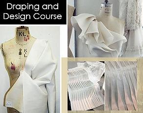 Diseño y drapeado de Moda