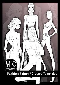 plantillas figurines de moda
