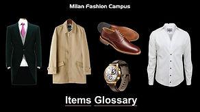 Items Glossary