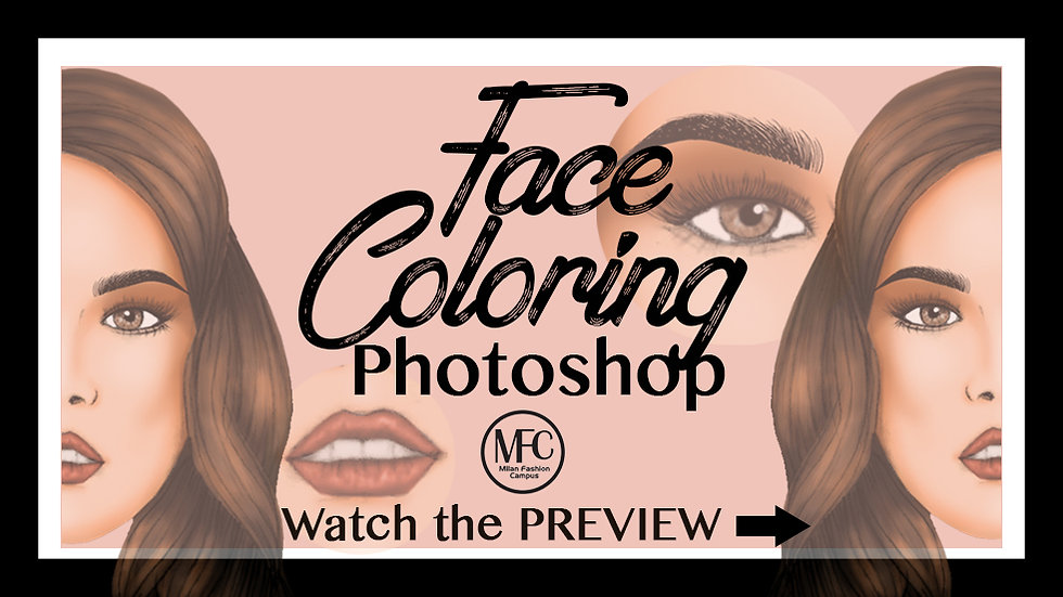 Face Coloring with Photoshop