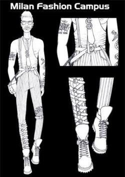 figurini moda uomo