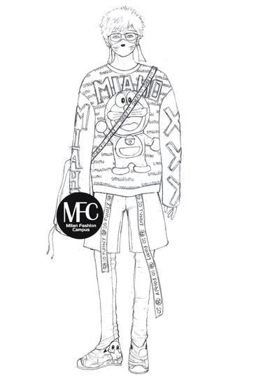 harajuku style moda uomo