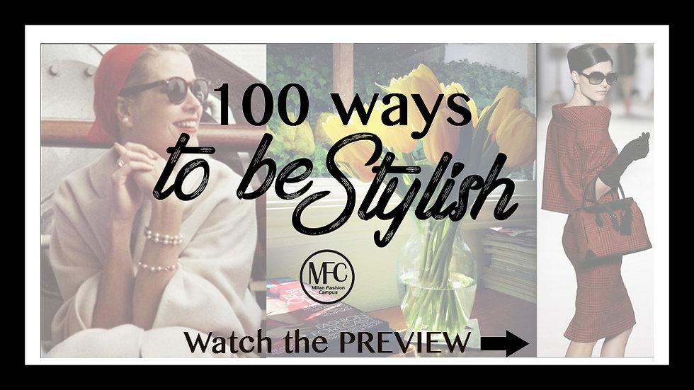 100 Ways to be Stylish
