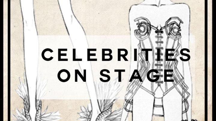 celebrities on stage
