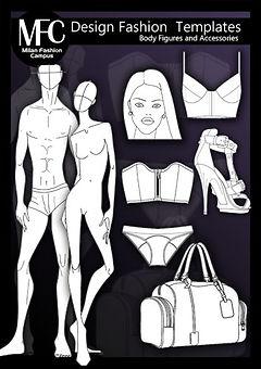 Fashion Design Templates Book