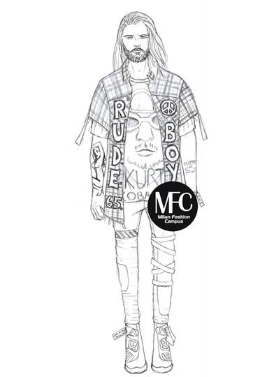 grunge figurino moda