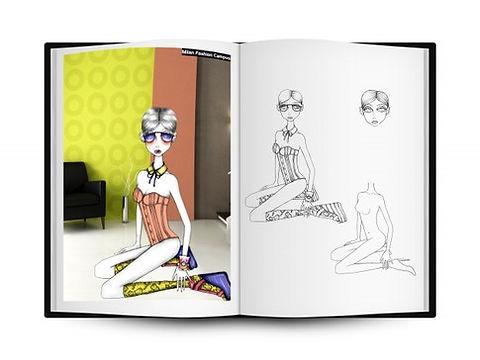 Libro Illustrazione Moda