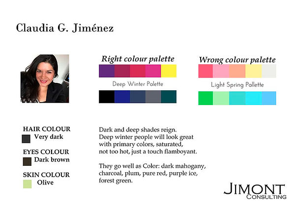 Fashion style color analysis