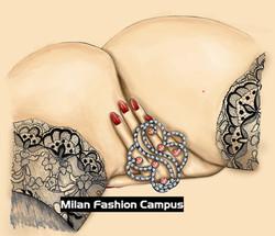 Illustrazione Tiffany moda