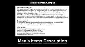 Men's Item Description