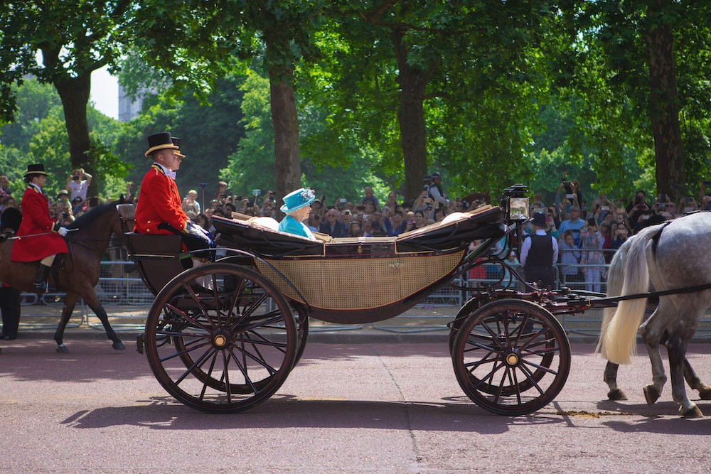 Queen Elizabeth II in a carriage