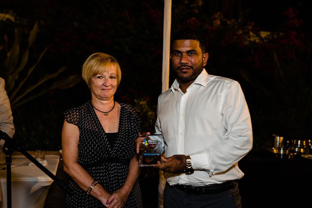 Award winners included the Humane Society's Jason Jairam, who won the award for Employee of the Year.
