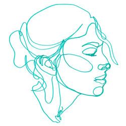 Monolinie-Zeichnung
