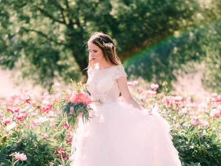 Bridal Photoshoot in the Peony Wonderland
