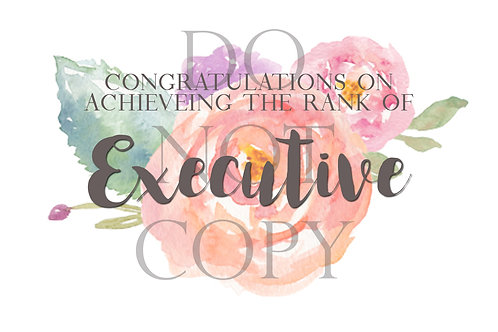 Executive Rank Postcard