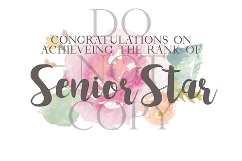 Senior Rank Postcard