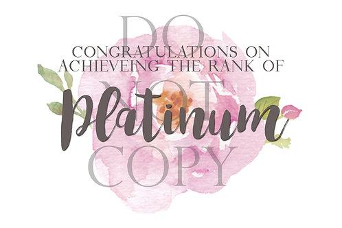 Platinum Rank Postcard