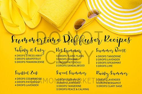 Summertime Diffuser Recipes