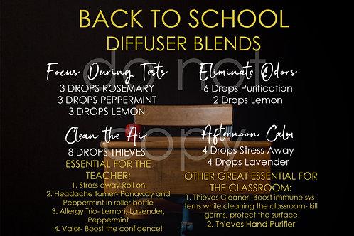 Back to School Diffuser Recipes