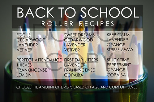 Back to School- Roller Bottle Recipes