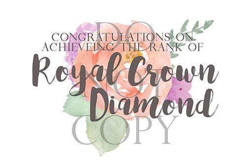 Royal Crown Diamond Rank Postcard
