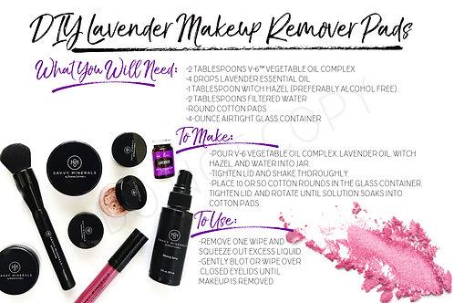 Savvy Makeup Remover Recipe Card