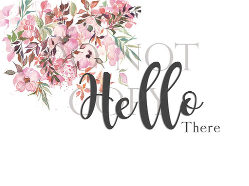 Hello There Postcard