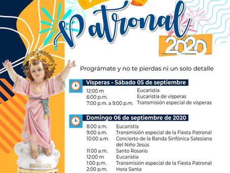 Programación de la Fiesta Patronal 2020