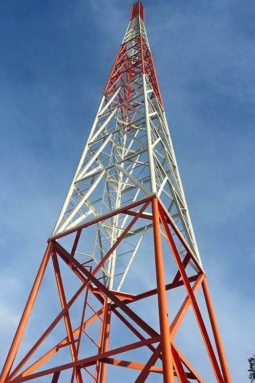 Kit de Torre Autosoportada Ligera TBX de 8 Secciones Prearmadas de 19.5 m de Alt