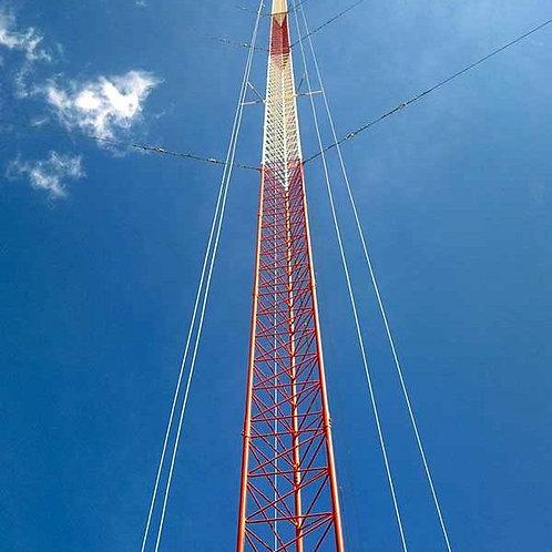 Kit de Torre Arriostrada de Techo de 3 m con Tramo STZ30G Galvanizada por Inmers