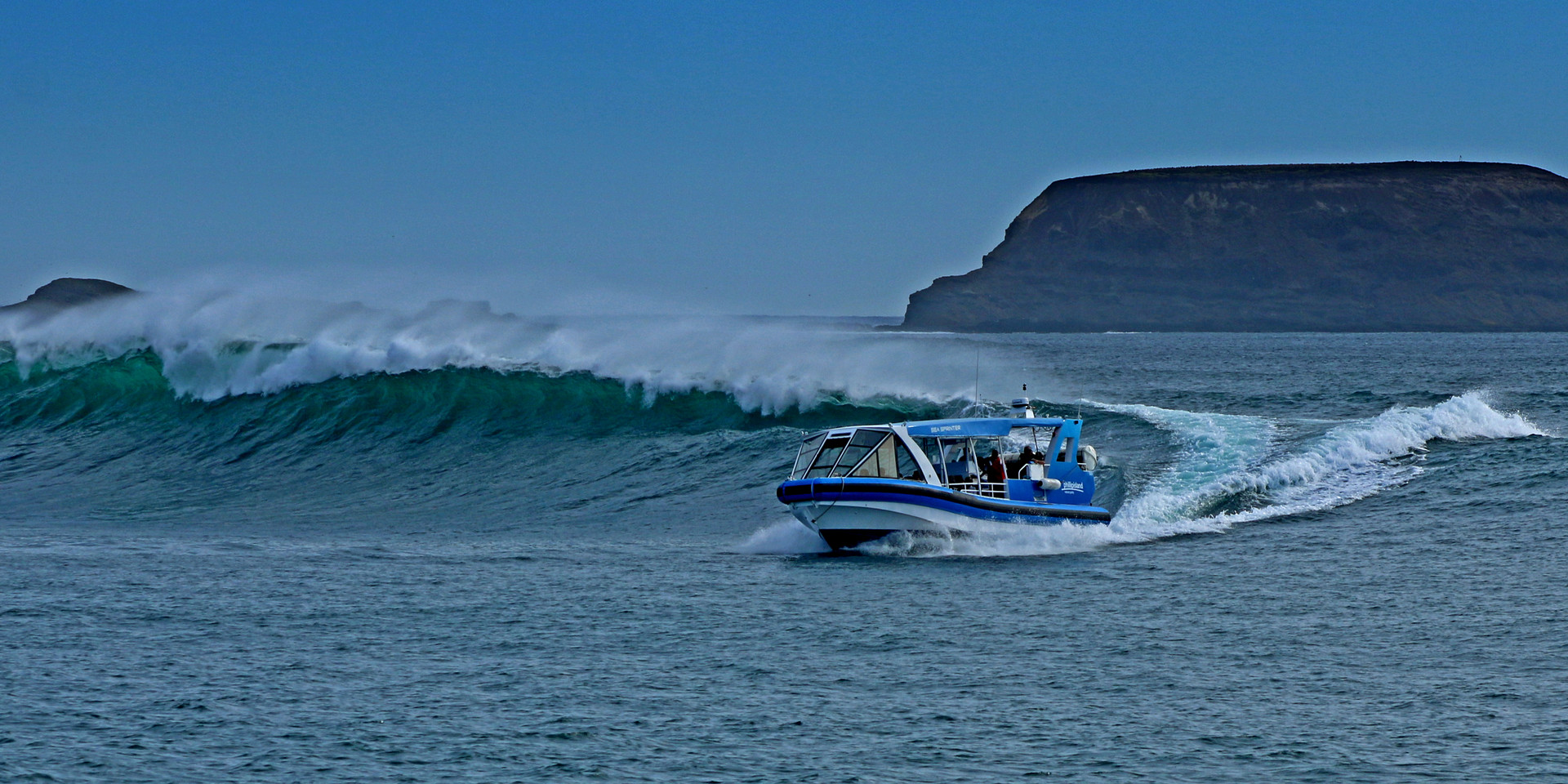 EcoBoat on a Wave