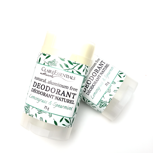 Spearmint & Lemongrass Natural Deodorant
