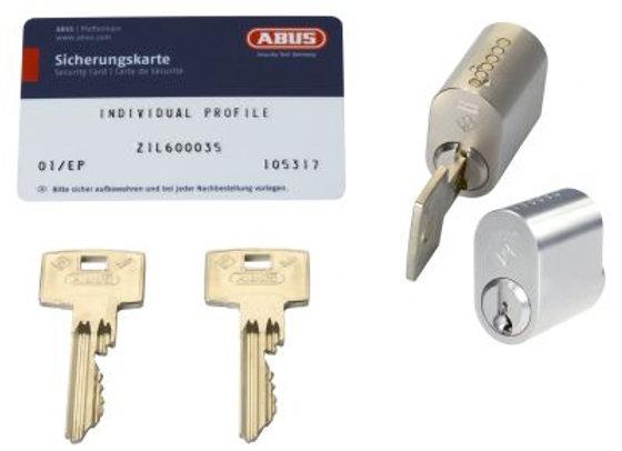 Abus Zolit. 2 ovale enslukkende m/3 nøgler