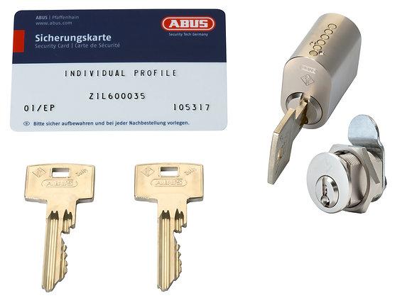 Abus Zolit. 1 oval, 1 postkasse enslukkende m/3 nøgler