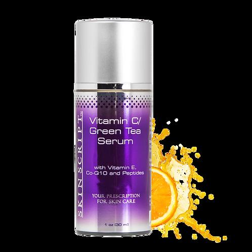 Skin Script 15% Vitamin C/Green Tea Serum with Vitamin C, CoQ10, and Peptides