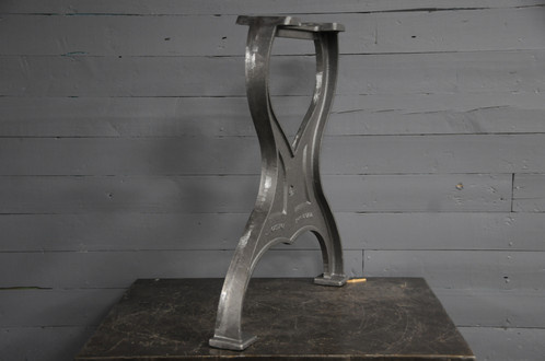 A Pair Of Custom Made Cast Iron Table Legs Modelled After A Vintage  Industrial Set.
