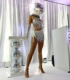 WinterWorks Entertainment - Mirror Heads - Discoball Heads - Private event - Manchester