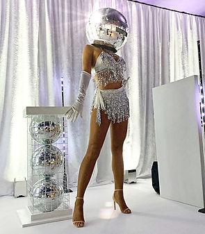 WinterWorks Entertainment - Studio 54 Entertainment - 70s disco entertainment - Mirror Ball Heads - Dancers - Event Entertainment