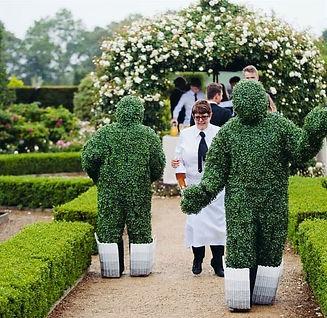 WinterWorks Entertainment - Spring Garden Theme - Rose girl - Hospitality - Giveaways - Model - Liverpool - Event Entertainment - Living Topiary - Topiary Trees - Interactive entertainment
