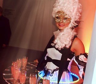 WinterWorks Entertainment - Venetian Masquerade - Event entertainment - models - hospitality - events - LED Canapé trays - giveaways - liverpool - manchester